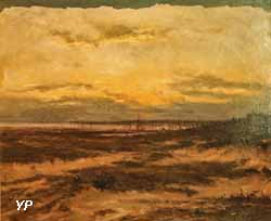 Le soir à l'étang des Cazeaux (Alexandre Gaston Guignard)