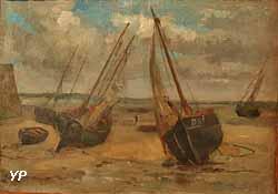 Marine ou Barques échouées (Louis Gabriel Eugène Isabey)