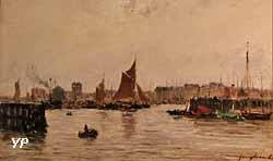 Vue d'un port (Johan-Barthold Jongkind)
