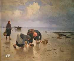 À Cancale, chercheuses d'huîtres (Gustave Édouard Le Sénéchal de Kerdréoret)