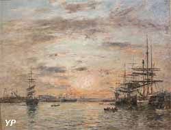Le bassin de l'Eure au Havre (Eugène Boudin, 1885)