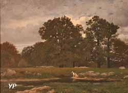 Fontainebleau, le plateau de la Mare aux Fées (Théophile-Narcisse Chauvel, 1871)