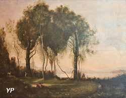 Le chevriers de Castel Gandolfo (d'après Camille Corot)