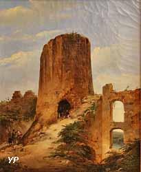 Artistes peignant dans les ruines de Château Gaillard (Charles Caïus Renoux)