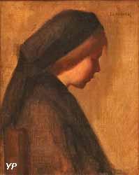 Jeune femme de profil (Jean-Jacques Henner)