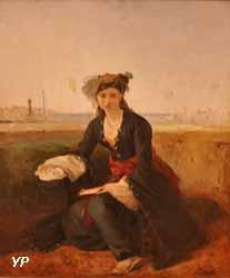 Jeune turque sur les rives du Bosphore (François-Auguste Biard)