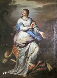 Sainte Marguerite foulant aux pieds le dragon (Charles Alphonse Dufresnoy)