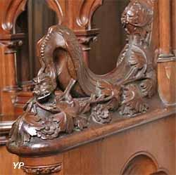 Stalles sculptées du choeur (XIXe s.)