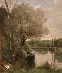 La Liseuse sur la rive boisée (Jean-Baptiste Camille Corot) (Yalta Production)