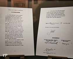 Fac similé de l'acte de Reddition allemande signé le 7 mai 1945