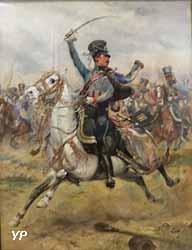 Le 1er régiment de hussards à Iéna (Edouard Détaillé, 1891)