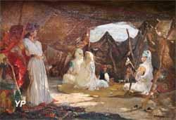 Femmes et enfants sous la tente (Gustave Guillaumet)