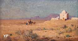 Koubba avec une caravane (Gustave Guillaumet)
