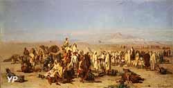 Marché arabe dans la plaine de Tocria (Gustave Guillaumet, Lille, Palais des Beaux Arts)