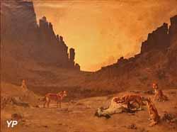 Chiens arabes dévorant un cheval mort, Algérie (Gustave Guillaumet, musée des Beaux-Arts de Carcassonne)