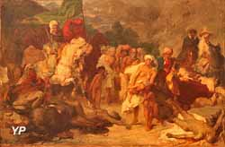 Razzia dans le Djebel Nador (Gustave Guillaumet, collection privée)