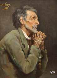 Vieillard en prière (Louis-Charles Spriet, 1883)