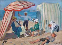 Sur la plage (Lucien Jonas, 1920)