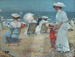 Sur la plage (Charles Hoffbauer, 1907)