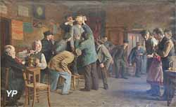 Le bain de pieds inattendu (Rémy Gogghe, 1895)