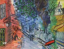 Train en gare (Raoul Dufy)