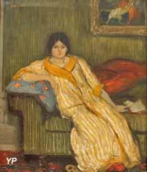 Femme assise sur un canapé (Théophile Alexandre Steinlen)