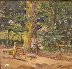 Antoinette David-Weill et son neveu Maurice Lambiotte à Mareil-le-Guyon (Edouard Vuillard)