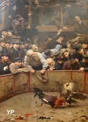 Le Combat de coqs en Flandre (Rémy Gogghe, 1889)