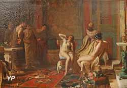 Femmes présentées à Octave comme esclaves (Rémy Gogghe, 1883)