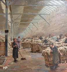 Scène de triage de la laine à Roubaix (Ferdinant-Joseph Gueldry)