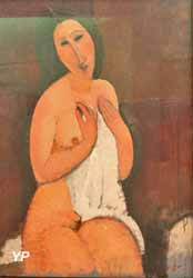 Nu assis à la chemise (Amedeo Modigliani, 1917)