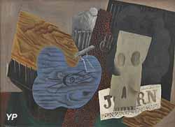 Instruments de musique et tête de mort (Pablo Picasso, 1914)
