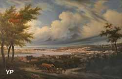 Vue de Boulogne prise d'Ostrohove en 1831 (Philippe Auguste)