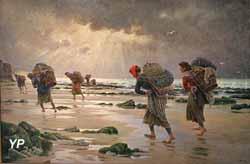 Les moulières au soleil couchant (Georges Maroniez, 1905)
