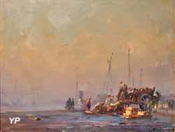 Débarquement de poissons à quai (Georges Ricard-Cordingley)