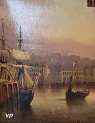 Vue du port de Boulogne (Auguste Delacroix)