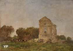 Ruines du château de Lassay (Eugène Boudin, 1893)