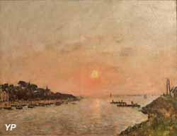 Coucher de soleil, Saint-Valéry-sur-Somme (Eugène Boudin, 1890)