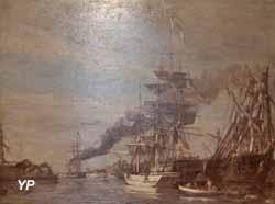 Port du Havre, ciel gris (Eugène Boudin)