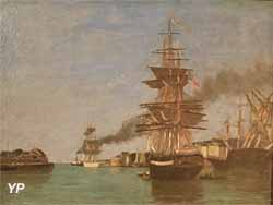 Port du Havre, ciel bleu (Eugène Boudin)