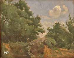 Paysage, forêt de Fontainebleau (Camille Corot)