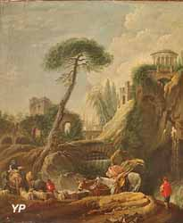 Vue imaginaire de Tivoli (attribué à François Boucher)
