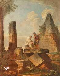 Ruines avec personnages (attribué à Giovanni Panini)