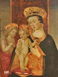La Vierge couronnée, l'Enfant Jésus et saint Jean-Baptiste (Maître de San Miniato)