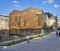 Nouveau bâtiment d'accueil du musée de Cluny, musée national du Moyen Âge, façade ouest Bernard Desmoulin, architecte