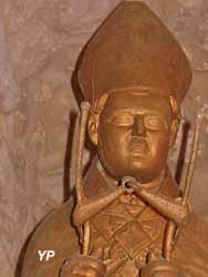 Statue de saint Siffrein en bois doré (XVIe siècle)