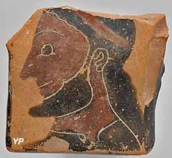 musée histoire, détail d'un cratère grec, VIe s. av. J.-C.