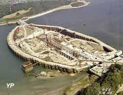 Usine marémotrice EDF de la Rance - le chantier en juin 1965