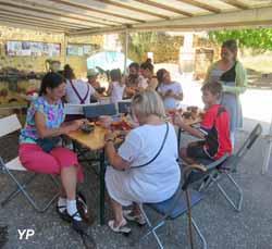 Atelier familial donné en 2018 au Couvent de Treigny