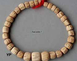 bracelet de perles en os